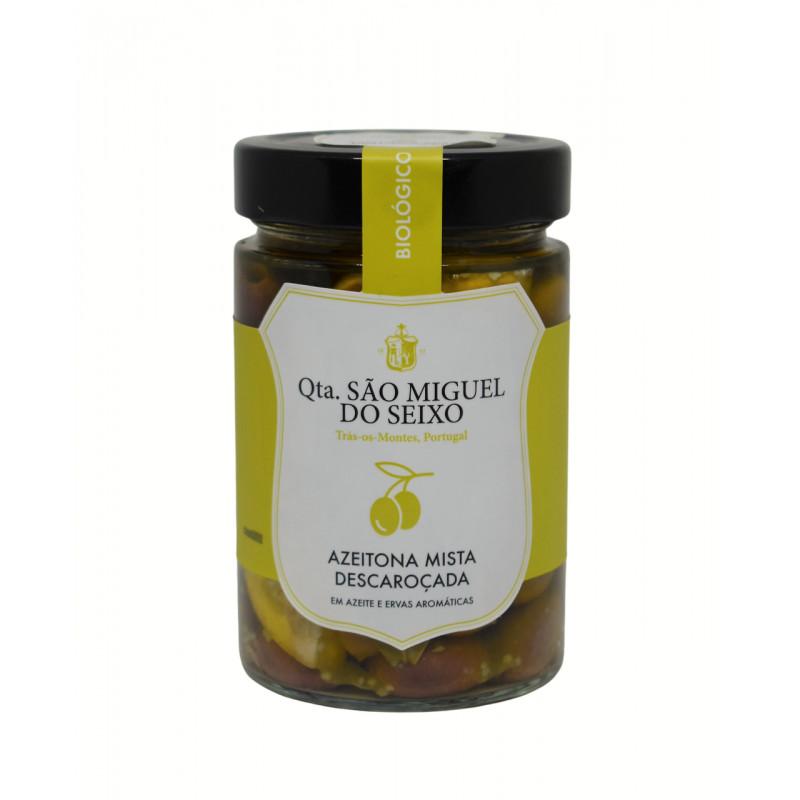 Azeitona Mista em Azeite e ervas aromáticas Bio 170g